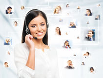 A collage of young business people Stock Photography