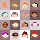 Collage young faces. Collage: multi ethnic young faces Stock Photography