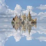Collagearkitektur av ies för Moskva 50 av århundradet 20 Fotografering för Bildbyråer