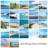 Collageblandning med foto från ferie Royaltyfri Foto