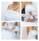 collagebröllop royaltyfri fotografi