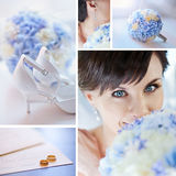 collagebröllop Arkivfoton