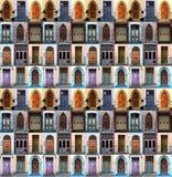 Collagedörrar Royaltyfria Bilder