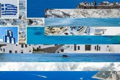 Collaged grekisk flagga Arkivfoton