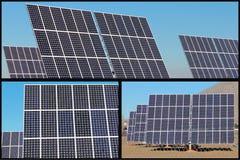 collageenergi panels sol- Royaltyfria Foton