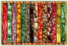 collagefärgmarknad Arkivfoton