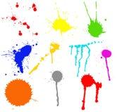 collagefärgstänk vektor illustrationer