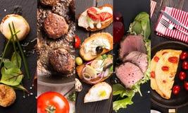 Collageformfoto av naturlig mat arkivfoto