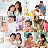 Collagefoto av mödrar och ättlingar Royaltyfri Bild