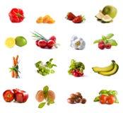 collagefruktgrönsaker Fotografering för Bildbyråer