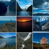 Collagen-Norwegen-Landschaften Lizenzfreie Stockfotografie