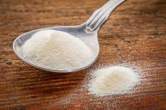 Collagen protein powder Stock Photos
