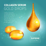 Collagen Serum Poster Royalty Free Stock Photo