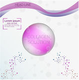 Collagen solution drop, collagen design and vitamin background, molecule and communication dna. Royalty Free Stock Photography