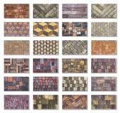 Collagenprobe des konkreten Pflastersteins für das Legen von Bahnen Lizenzfreie Stockfotografie