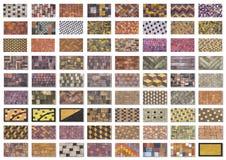 Collagenprobe des konkreten Pflastersteins für das Legen von Bahnen Stockfotografie