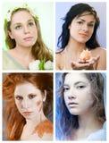 collagesäsonger Royaltyfria Bilder