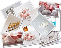 Collages with medicines photos Royalty Free Stock Photography