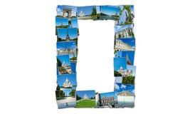 Collaget av den paris fotosamlingen Royaltyfri Foto