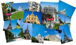Collaget av den paris fotosamlingen Fotografering för Bildbyråer