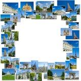 Collaget av den paris fotosamlingen Royaltyfria Bilder