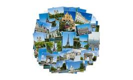 Collaget av den paris fotosamlingen Royaltyfria Foton