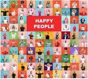 Collaget av förvånat folk fotografering för bildbyråer
