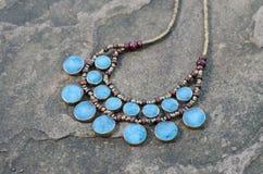 Collana antica del turchese Fotografia Stock Libera da Diritti