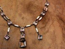 Collana antica di art deco Fotografia Stock Libera da Diritti