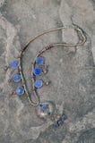 Collana antica di lapislazzuli immagine stock