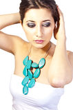Collana blu Immagine Stock