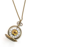 Collana bronzea dell'orologio da tasca del leopardo fotografia stock libera da diritti