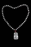 Collana cinese della giada Fotografia Stock