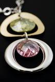 Collana con i diamanti Fotografia Stock