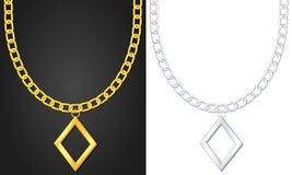 Collana con il simbolo del diamante Fotografie Stock