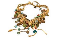 Collana con le corde e di ceramica natali fotografia stock