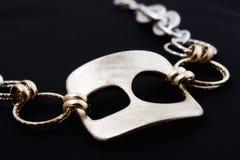 Collana da oro bianco Immagine Stock Libera da Diritti