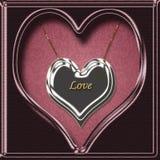 Collana del cuore di amore Fotografie Stock