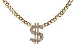 Collana del dollaro Fotografia Stock Libera da Diritti