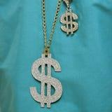 Collana del segno del dollaro. Fotografie Stock Libere da Diritti