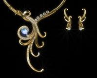 Collana dell'oro Immagini Stock
