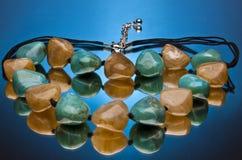 Collana della pietra preziosa Immagine Stock