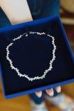 Collana della sposa Immagine Stock