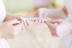 Collana della sposa Immagini Stock Libere da Diritti
