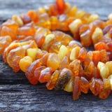 Collana delle perle ambrate Fotografie Stock