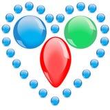 Collana delle perle di vetro blu Immagini Stock Libere da Diritti