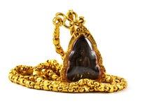 Collana di Buddha e dorato Immagine Stock Libera da Diritti
