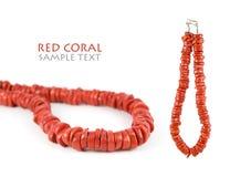 Collana di corallo rossa Fotografie Stock Libere da Diritti