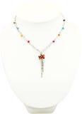 Collana di cristallo dei gioielli Fotografia Stock Libera da Diritti