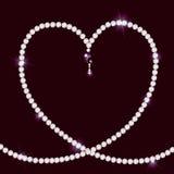 Collana di diamante che si trova nel modulo di cuore illustrazione vettoriale